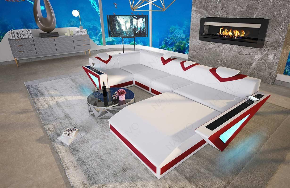 Canapé Design FALCO XL avec éclairage LED et port USB