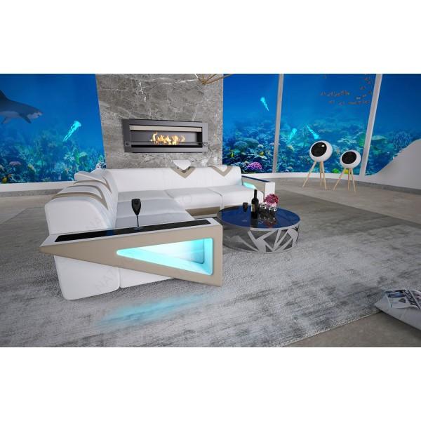 Canapé Design AVENTADOR 3+2+1 avec éclairage LED
