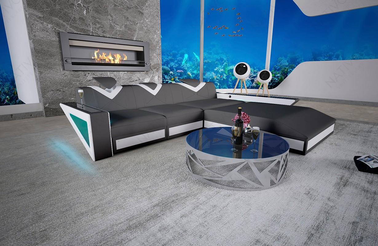 Canapé Design FALCO MINI avec éclairage LED et port USB