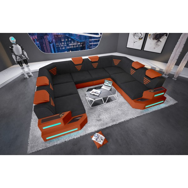 Canapé Design 3+2+1 MIRAGE avec éclairage LED