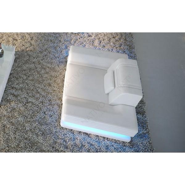Lit boxspring ZÜRICH en tissu avec topper