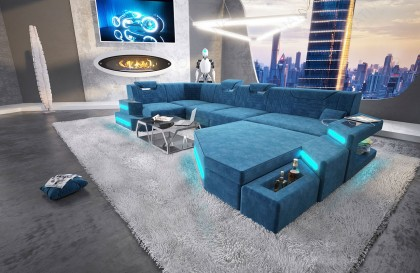 Canapé Design ATLAS MINI avec tabouret