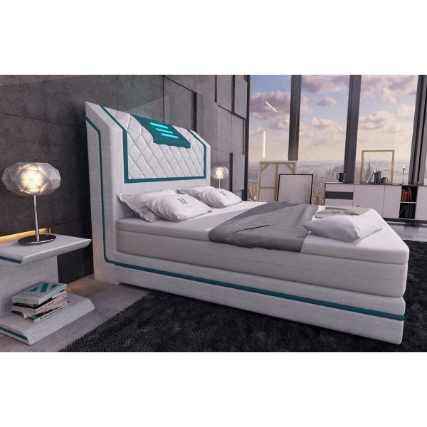 Canapé Design ROYAL CORNER avec éclairage LED et port USB